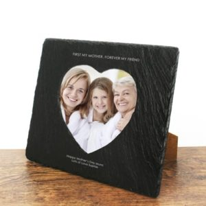 First My Mother Forever My Friend Heart Slate Photoframe