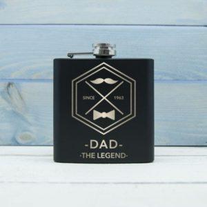 Legend Dad's Black Hip Flask