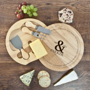 Love Makes The World Go Round Cheese Board Set