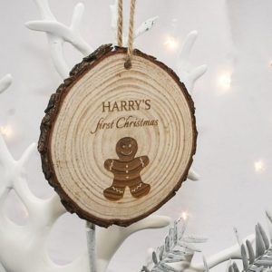My First Christmas Gingerbread Man Hanging Decoration