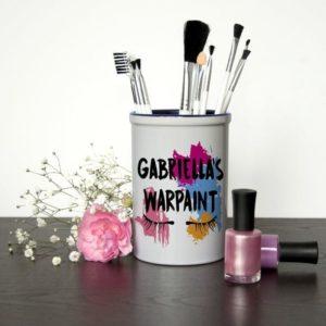 My Warpaint Personalised Make Up Brush Holder