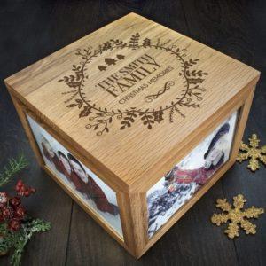 Personalised Christmas Memory Box Traditional Design