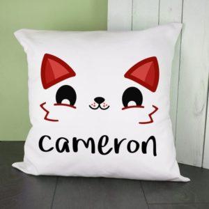 Personalised Cute Fox Eyes Cushion Cover