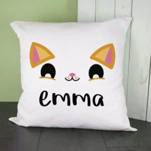 Personalised Cute Kitten Eyes Cushion Cover