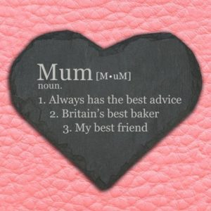 Personalised Definition of Mummy Heart Slate Keepsake
