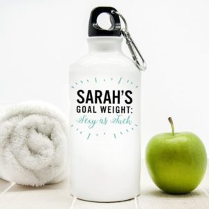 Personalised Goal Weight Water Bottle