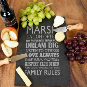Personalised Large Family Rules Slate Board