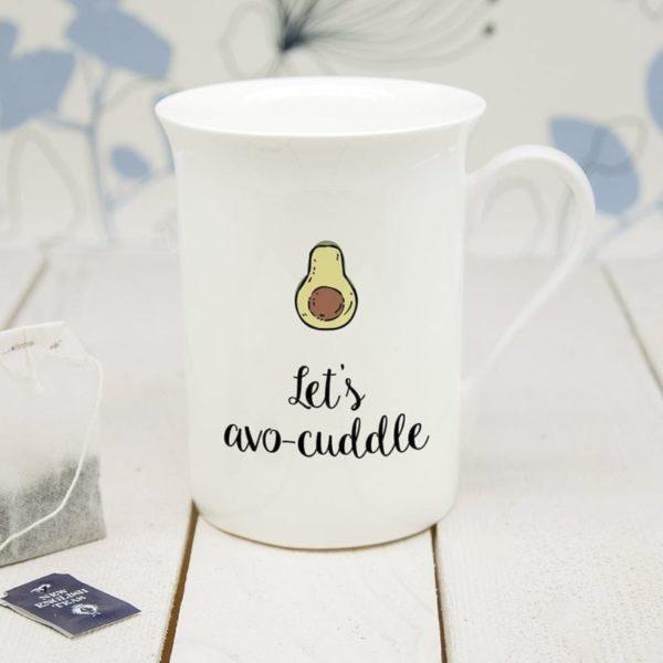 Personalised Let's Avo-Cuddle Bone China Mug