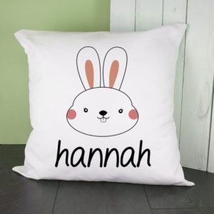 Personalised Little Bunny Face Cushion Cover