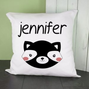 Personalised Little Skunk Face Cushion Cover