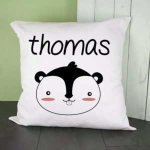 Personalised Little Squirrel Face Cushion Cover