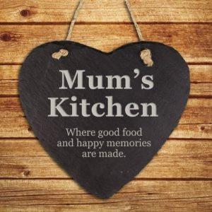 Personalised Mums Kitchen Hanging Slate Keepsake