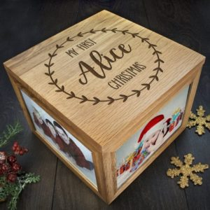 Personalised My First Christmas Memory Box