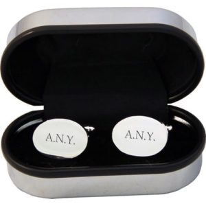Personalised Oval Silver Plated Cufflinks