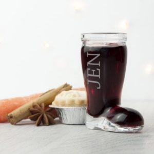 Personalised Santa Boot Shot Glass