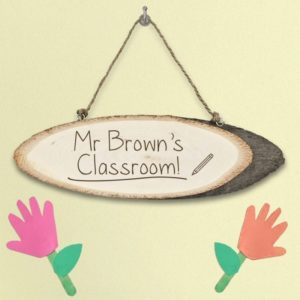 Personalised Teacher's Classroom Wooden Sign