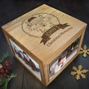 Personalised Woodland Fox Christmas Christmas Memory Box