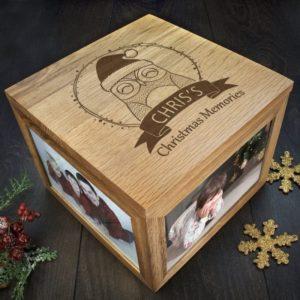 Personalised Woodland Owl Christmas Christmas Memory Box