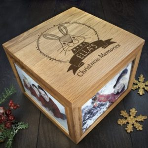 Personalised Woodland Rabbit Christmas Memory Box