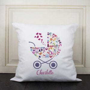 Pram Baby Memory Cushion Cover - Girl