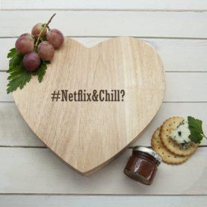 Romantic Hashtag Heart Cheese Board