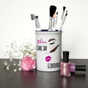 She Came She Saw She Contoured Personalised Make Up Brush Holder