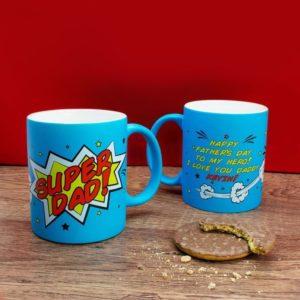 Superdad! Matte Coloured Mug