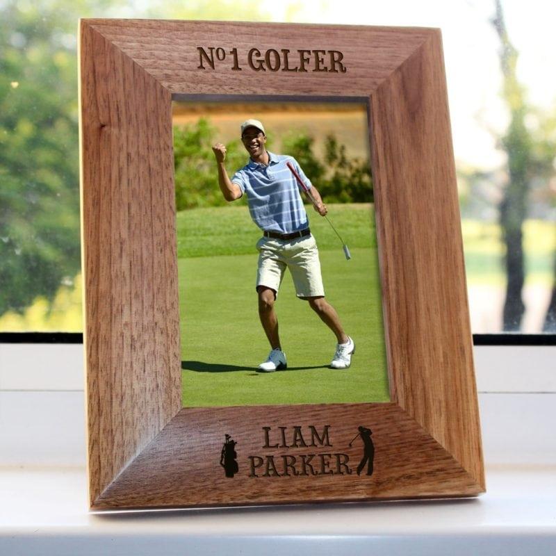 Top Golfer Engraved Photo Frame