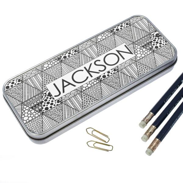 Abstract Sketch Pencil Case