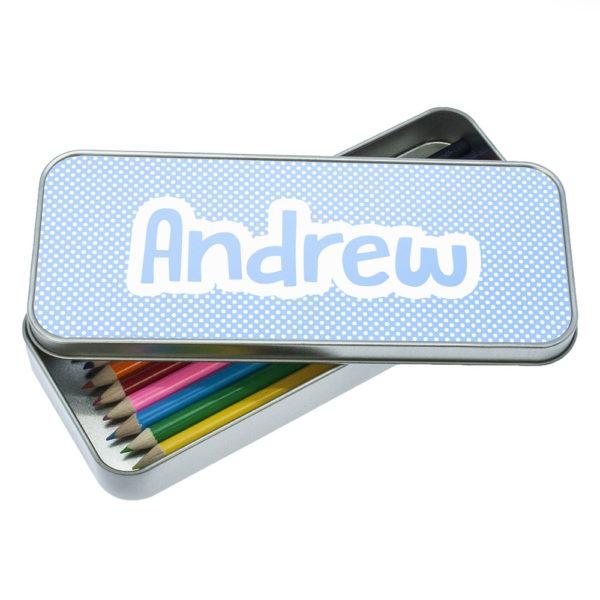 Blue Dots Dotty Designed Pencil Case