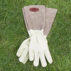 Brown Leather Gardening Gloves