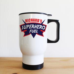 Dad's Superhero Fuel Travel Mug