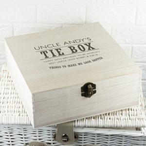 Dashing Gentleman's Tie & Accessory Wooden Box