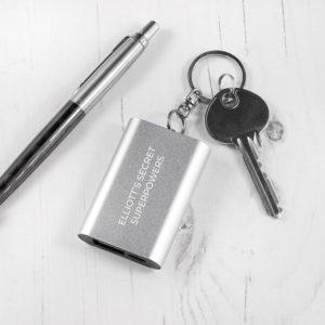 Emergency Personalised Miniature Powerbank Keyring