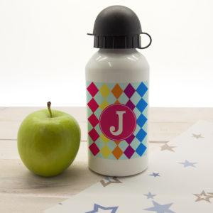 Girls Mosaic Tiled Personalised Water Bottle