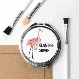 Glamingo Round Compact Mirror