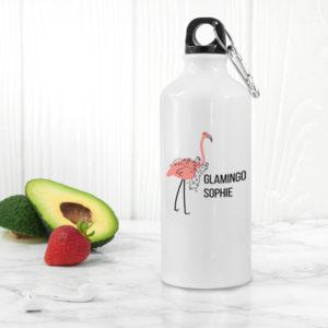 Glamingo White Water Bottle