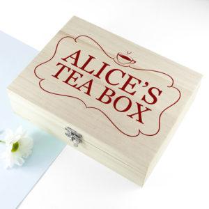 'Love Chai' Tea Box With Name