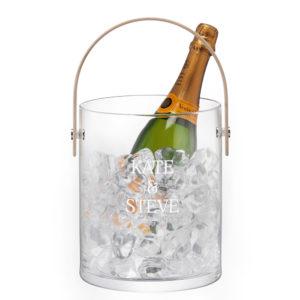 LSA Personalised Ash Handle Ice Bucket