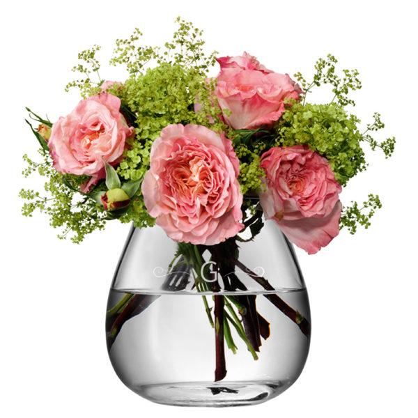 LSA Monogrammed Bouquet Vase