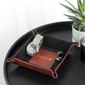 Luxury Brown Personalised Valet Tray