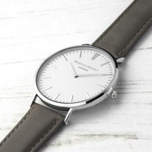 Men's Modern-Vintage Personalised Leather Watch In Ash