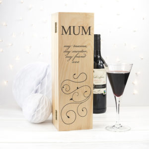 Mother's Day Wine Box With Swirls