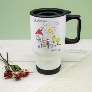 My Mini Masterpiece Personalised Artwork Travel Mug