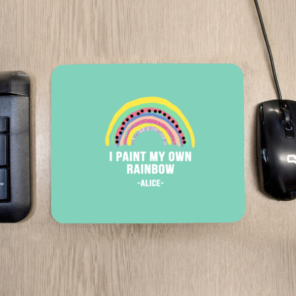 My Own Rainbow Mouse Pad