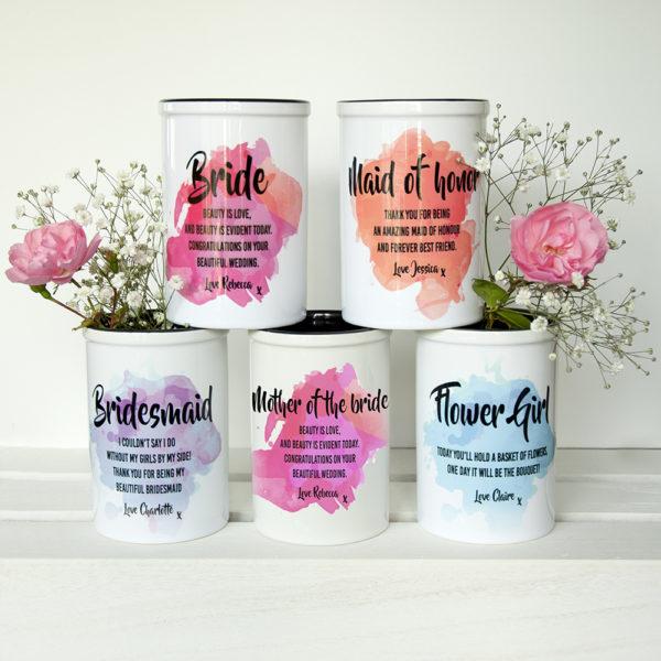 Personalised Bridesmaid Miniature Champagne Bucket