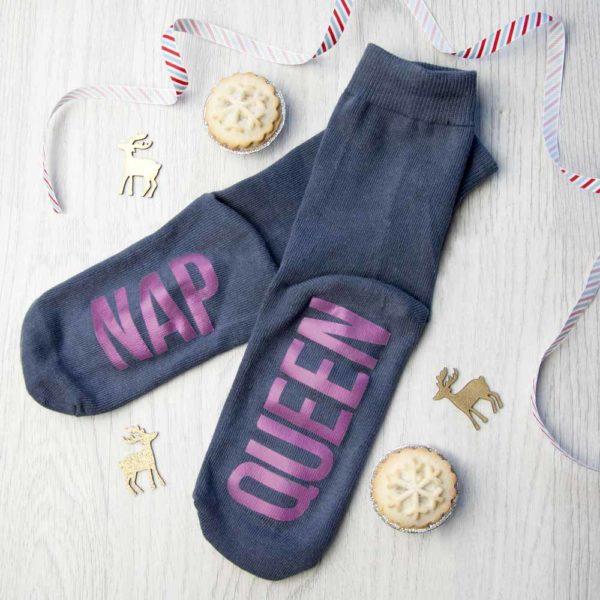 Personalised Charcoal & Hot Pink Socks