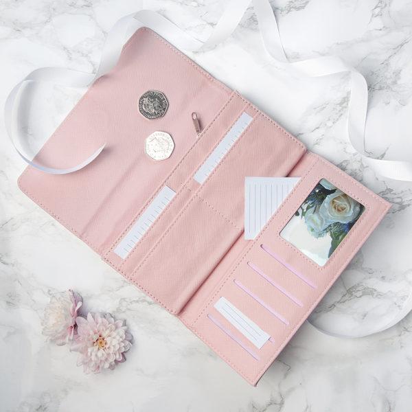 Personalised Pink Rose Ladies Wallet