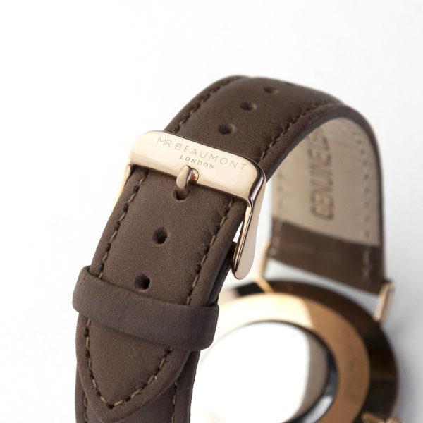 Men's Modern-Vintage Personalised Leather Watch In Brown