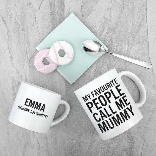 Personalised Mummy & Me Favourite People Mugs